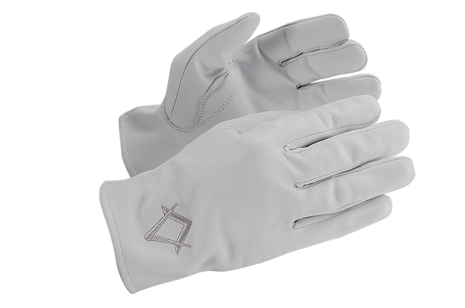 gants ma onniques tous rites gants ma onniques cuir luxe pour homme equerre compas argent. Black Bedroom Furniture Sets. Home Design Ideas
