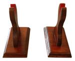 Deux supports épée en bois