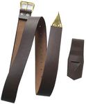 Ceinture cuir marron avec porte épée