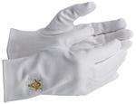 Gants Coton E&C Or Acacia blanc