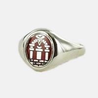 Bague Maçonnique Argent Arche Royale Tête rouge ovale&fixe