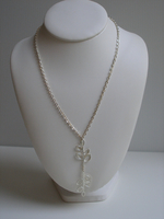 Collier Double Feuille d'Acacia verticales