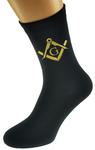 Chaussettes Maçonniques Noires avec E&C Or lettre G