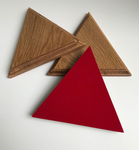 Trio de Tas de frappe triangle 15cm en bois