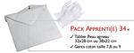 Set Apprenti (Tablier+gants blancs coton)