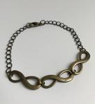 Bracelet 3 lacs d'amour bronze
