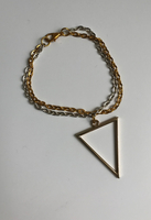 Bracelet Grand Triangle double chaine
