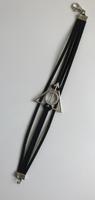 Bracelet cuir Les reliques de la Mort Harry Potter