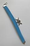 Bracelet cuir bleu Étoile & Lune