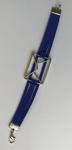 Bracelet cuir bleu Tablier