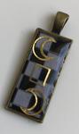 Pendentif Pavé Mosaïque 2 lunes et Rectangle Bronze