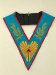 Sautoir Vénérable Maitre Tétragramme & acacia REAA brodé main