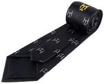 Cravate noire Arche Royale avec taus