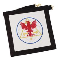 Tablier 12° Chevalier de l'Aigle Rouge Memphis Misraim
