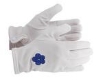 Gants Maçonniques Nylon Blanc avec Myosotis