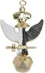 Bijou REAA 30° Chevalier Kadosh Aigle Bicéphale