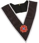 Sautoir REAA 32° Sublime Prince du Royal Secret Croix Teutonique Broderie main