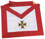 Tablier REAA 18° Chevalier Rose+Croix Ancrée Broderie main