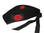 Couvre-chef Maçonnique Glengarry Noir avec cocarde rouge