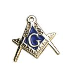 Pin Equerre et Compas + G émaillé bleu 15mm