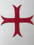 Croix Templière rouge à coudre - PVC