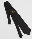 Cravate Soie avec Broderie main Equerre et Compas Or
