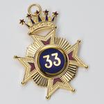 Bijou Croix 33ème degré REAA