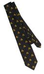 Cravate Maçonnique avec Imprimé Equerre et Compas