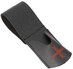Passant porte épée noir avec croix rouge