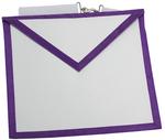 Tablier Apprenti Memphis Misraïm avec liseré violet