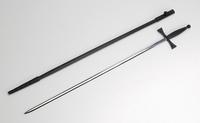 Epée fine avec garde, poignée noirs