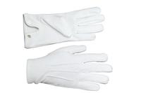 Gants Maçonniques Coton Blanc 3 piqures