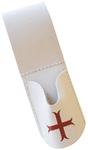 Porte épée blanc croix rouge templière