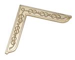 Equerre Maçonnique métal doré
