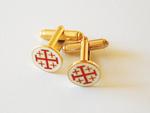 Boutons de manchettes Croix de St Jean Jerusalem