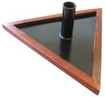 Porte épée ou canne Mdc au Sol Triangle bois métal