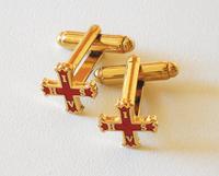 Boutons de manchettes Croix de Constantin