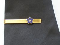 Pince de cravate Myosotis avec pentagramme
