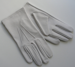 Gants Maçonniques Blancs Cuir Modèle 1