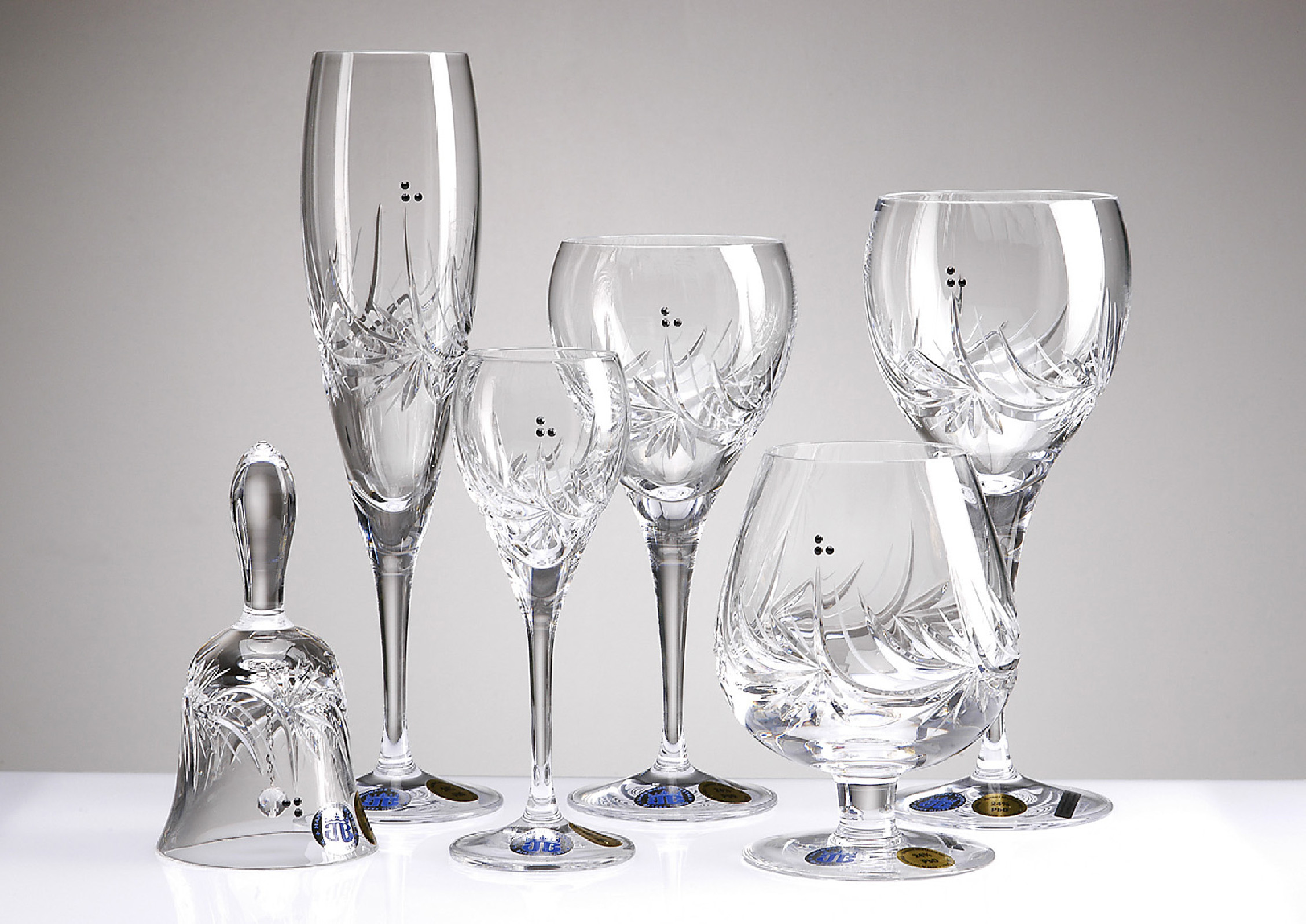 Fl te cristal 3 points for Disposition des verres sur la table